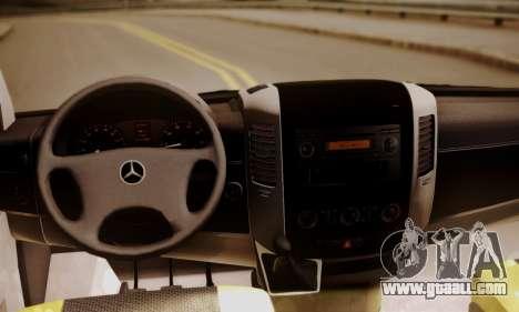 Mercedes-Benz Sprinter 315 CDi for GTA San Andreas back view