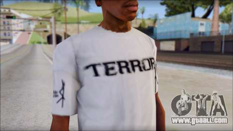 Terror T-Shirt Hardcore for GTA San Andreas third screenshot
