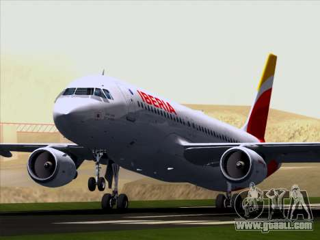 Airbus A320-214 Iberia for GTA San Andreas inner view