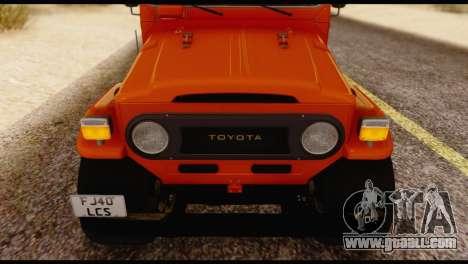 Toyota Land Cruiser (FJ40) 1978 for GTA San Andreas back view