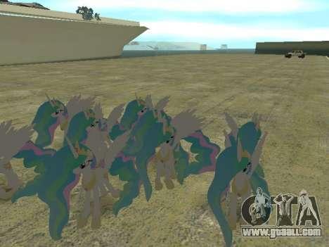 Princess Celestia for GTA San Andreas fifth screenshot