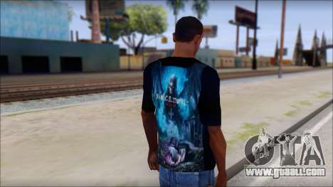 Avenged Sevenfold Nightmare Fan T-Shirt for GTA San Andreas second screenshot