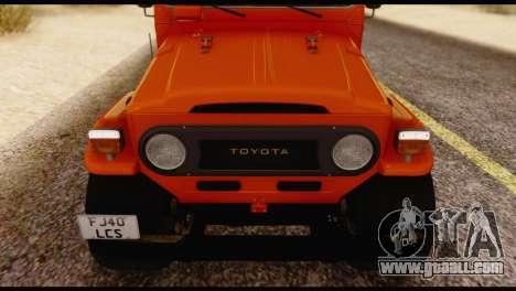 Toyota Land Cruiser (FJ40) 1978 for GTA San Andreas inner view
