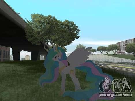 Princess Celestia for GTA San Andreas seventh screenshot
