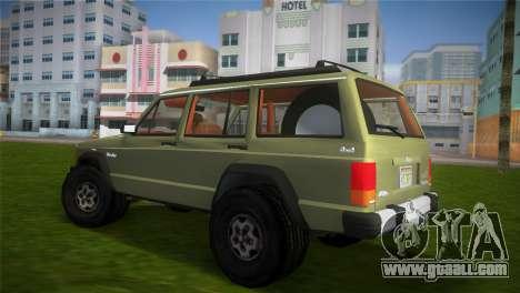 Jeep Cherokee v1.0 BETA for GTA Vice City left view