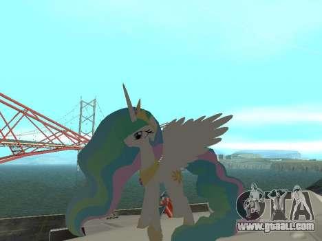 Princess Celestia for GTA San Andreas second screenshot
