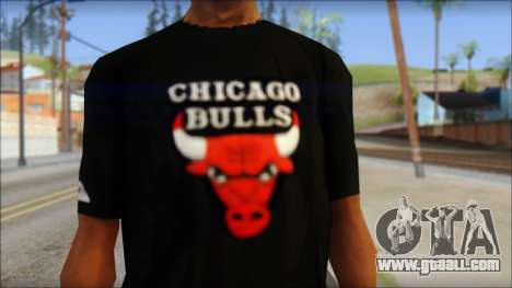 Chicago Bulls Black T-Shirt for GTA San Andreas third screenshot