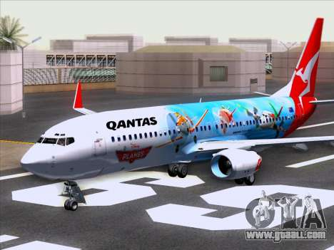 Boeing 737-800 Qantas for GTA San Andreas left view