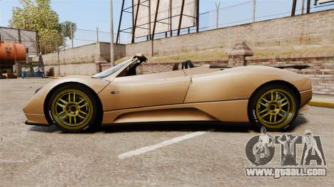 Pagani Zonda C12S Roadster 2001 v1.1 for GTA 4 left view