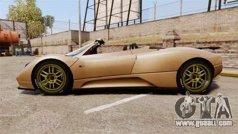 Pagani Zonda C12S Roadster 2001 v1.1 for GTA 4 left view
