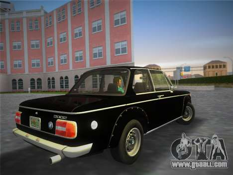 BMW 2002 Tii (E10) 1973 for GTA Vice City left view