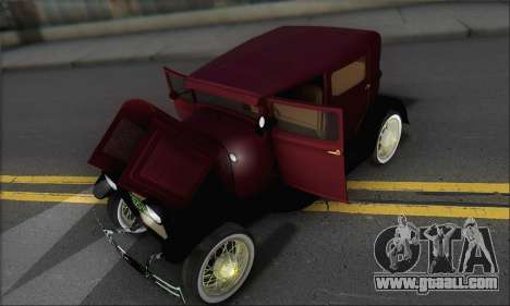 Ford A 1930 for GTA San Andreas side view