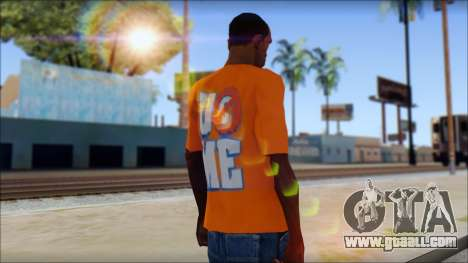 John Cena Orange T-Shirt for GTA San Andreas second screenshot
