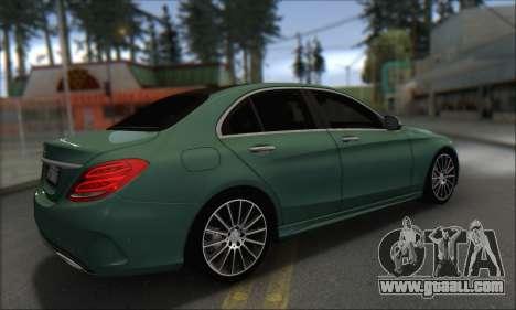 Mercedes-Benz C250 V1.0 2014 for GTA San Andreas back view