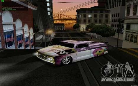 Paint work for Slamvan MLP Fluttershy for GTA San Andreas back left view