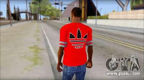 T-Shirt Adidas Red for GTA San Andreas second screenshot