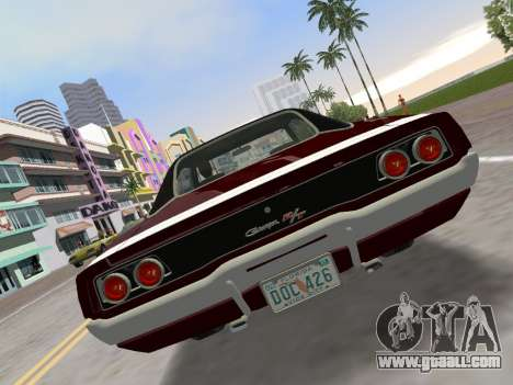 Dodge Charger RT 426 1968 for GTA Vice City back left view