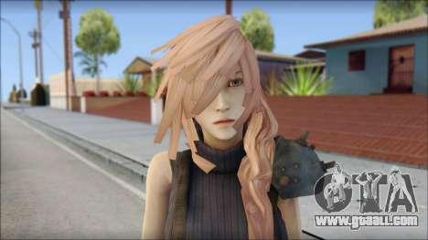 Final Fantasy XIII - Lightning Lowpoly for GTA San Andreas third screenshot