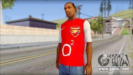 Arsenal Shirt for GTA San Andreas