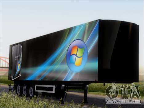 Прицеп Windows Vista Ultimate for GTA San Andreas
