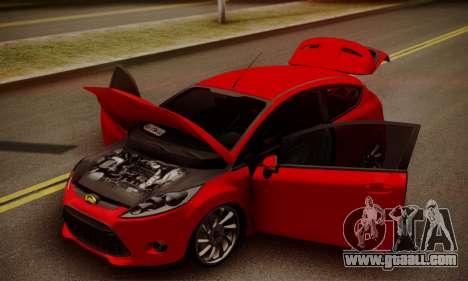 Ford Fiesta Turkey Drift Edition for GTA San Andreas back view