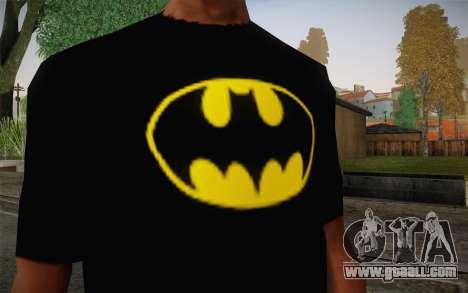 Batman Swag Shirt for GTA San Andreas third screenshot