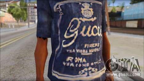 Gucci T-Shirt for GTA San Andreas third screenshot