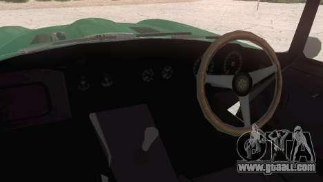 Jaguar E-Type for GTA San Andreas back left view