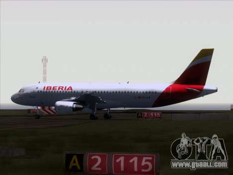 Airbus A320-214 Iberia for GTA San Andreas back view