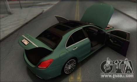 Mercedes-Benz C250 V1.0 2014 for GTA San Andreas engine