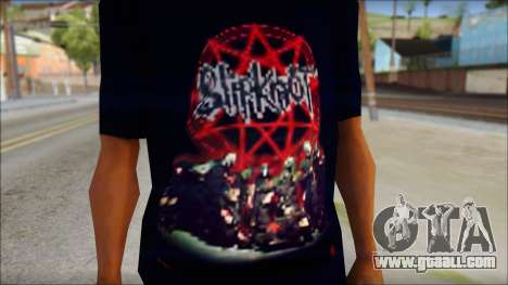 SlipKnoT T-Shirt v3 for GTA San Andreas third screenshot