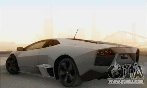 Lamborghini Reventon for GTA San Andreas left view