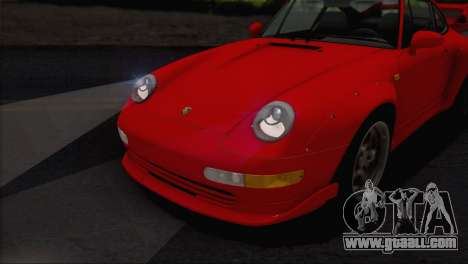 Porsche 911 GT2 (993) 1995 V1.0 EU Plate for GTA San Andreas bottom view