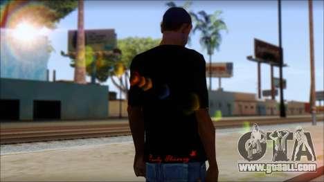 Ed Hardy Lion T-Shirt for GTA San Andreas second screenshot