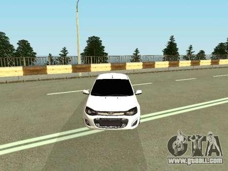 Lada Kalina 2 for GTA San Andreas back view