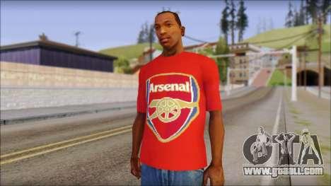 Arsenal T-Shirt for GTA San Andreas