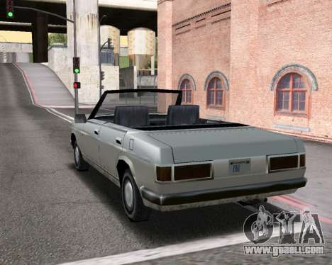 Admiral Convertible for GTA San Andreas back left view