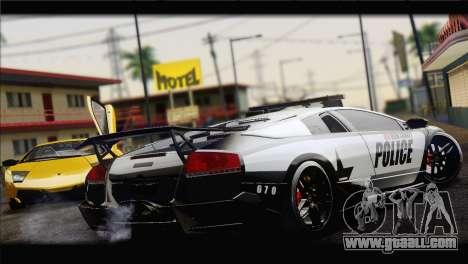 Lamborghini Murcielago LP670 SV Police for GTA San Andreas back left view