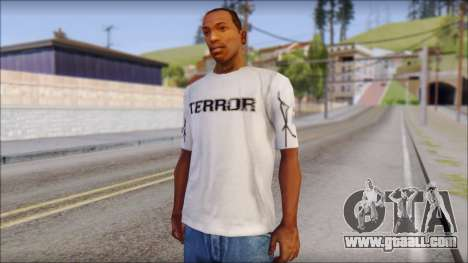 Terror T-Shirt Hardcore for GTA San Andreas