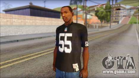 Oakland Raiders 55 McClain Black T-Shirt for GTA San Andreas
