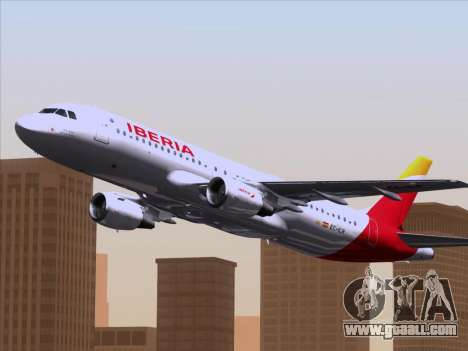 Airbus A320-214 Iberia for GTA San Andreas side view