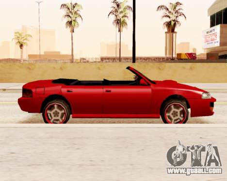 Sultan Convertible for GTA San Andreas left view