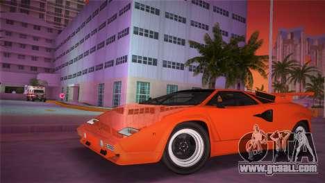 Lamborghini Countach LP5000 QV TT Custom for GTA Vice City back left view