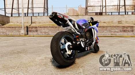 Yamaha YZF-R1 PJ1 for GTA 4 back left view