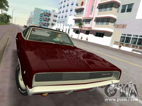 Dodge Charger RT 426 1968 for GTA Vice City back view