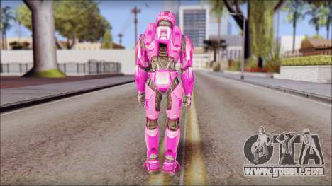 Masterchief Pink from Halo for GTA San Andreas third screenshot