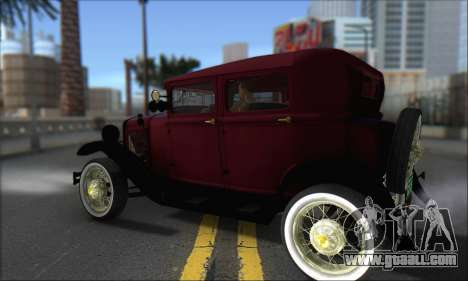 Ford A 1930 for GTA San Andreas back left view