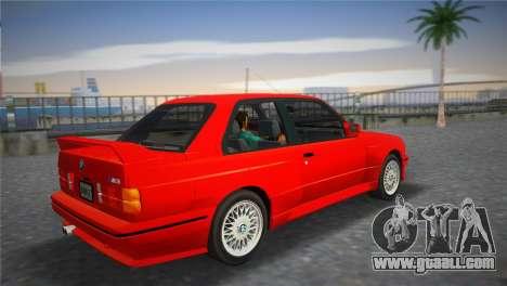 BMW M3 (E30) 1987 for GTA Vice City left view