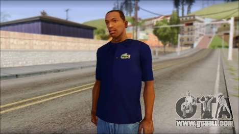 Blue Izod Lacoste Polo Shirt for GTA San Andreas