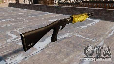 Gun Franchi SPAS-12 Gold for GTA 4 second screenshot